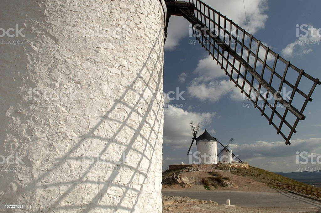 Mills of Consuegra stock photo