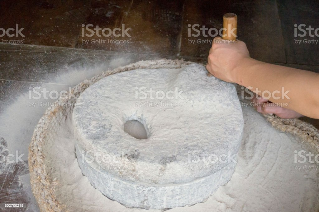 millstone stock photo