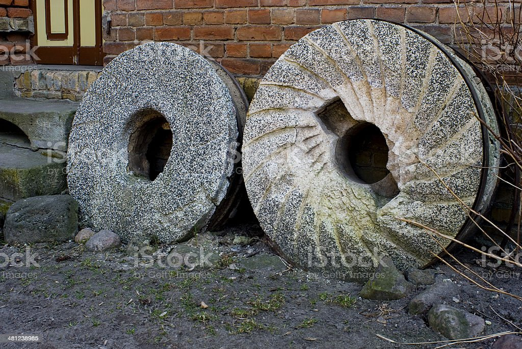 millstones stock photo