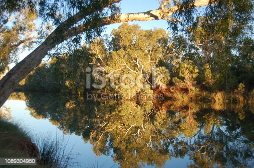 Beautiful billabong in Western Australia's Pilbara Region.