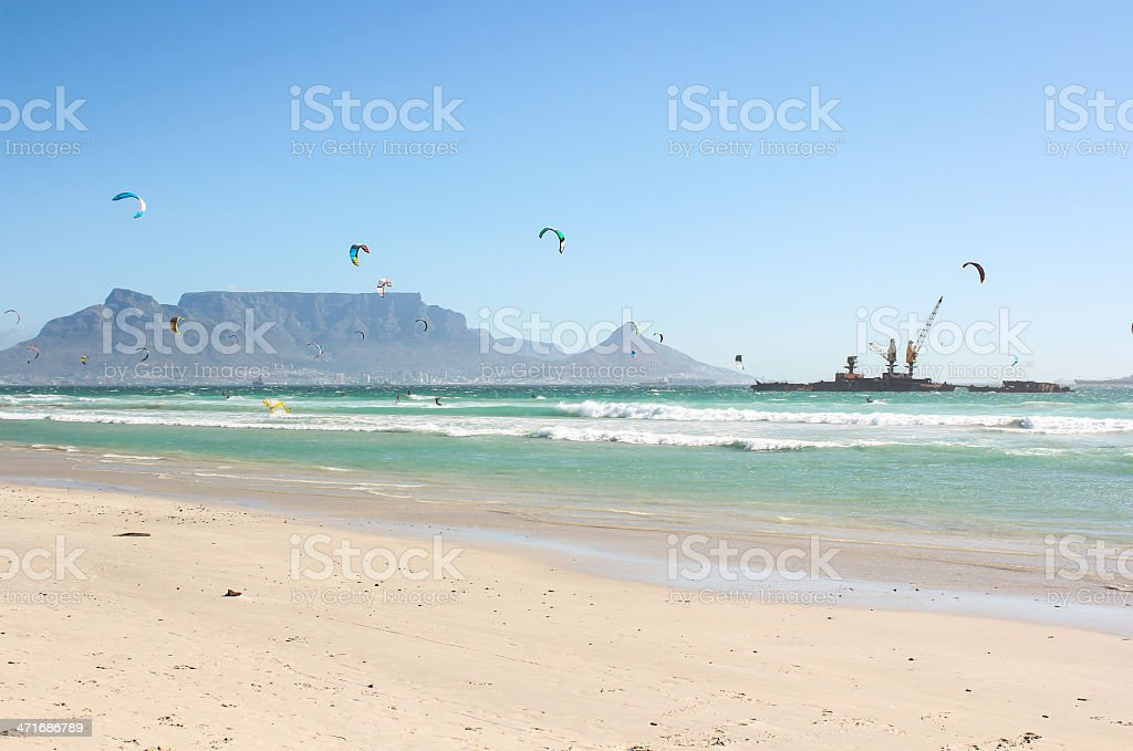 Milnerton Beach in Cape Town royalty-free stock photo