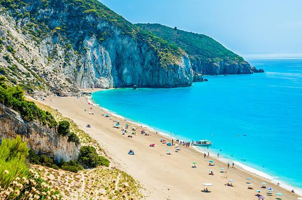 Milos Strand auf der Insel Lefkada, Griechenland. – Foto