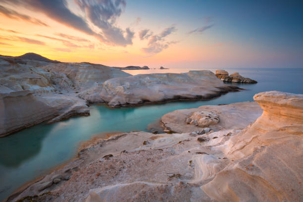 Milos, Greece. stock photo