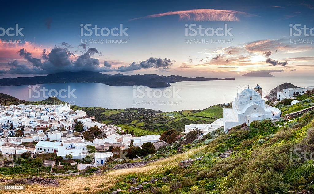 Milos Island stock photo