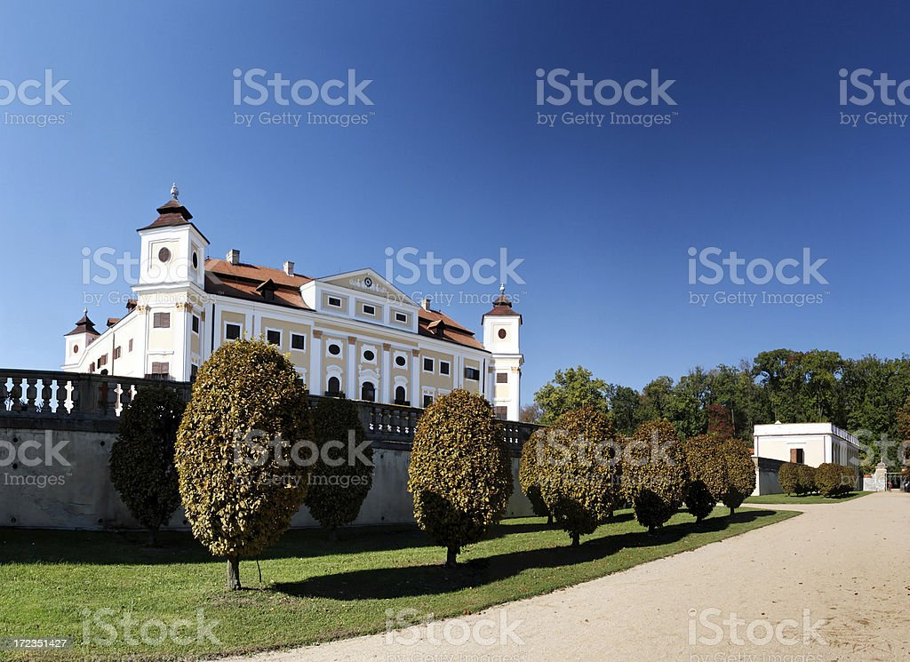 Milotice chateau garden royalty-free stock photo