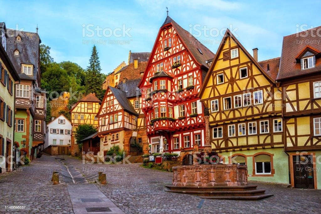 Miltenberg Medieval Old Town Bavaria Germany Stock Photo ...