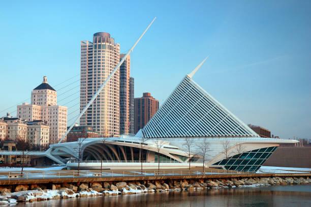Milwaukee and their art  museum stock photo