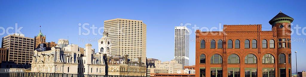Milwaukee buildings stock photo