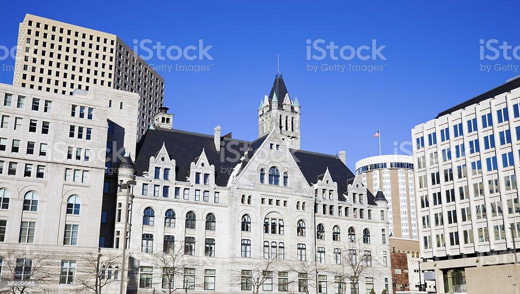 Milwaukee buildings royalty-free stock photo
