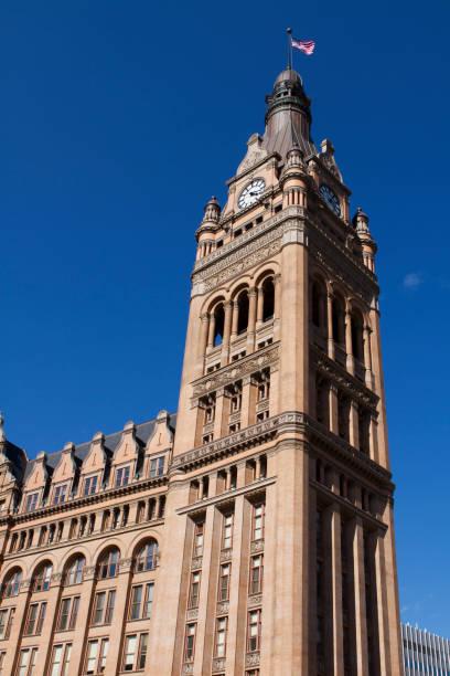 Milwaukee City Hall clock tower stock photo