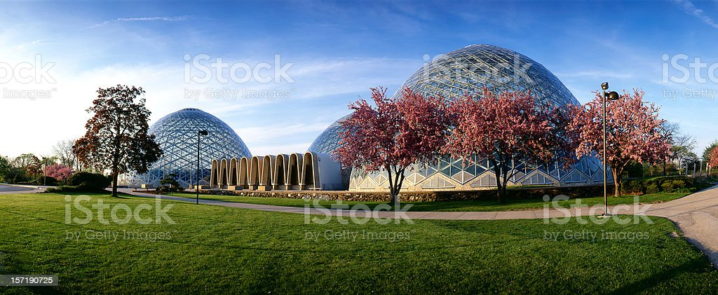 Milwaukee Domes royalty-free stock photo