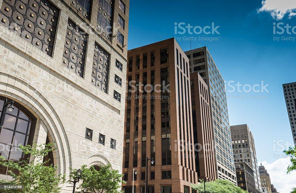 Milwaukee downtown city building stock photo