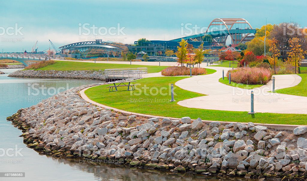 Milwaukee Downtown Park (P) stock photo