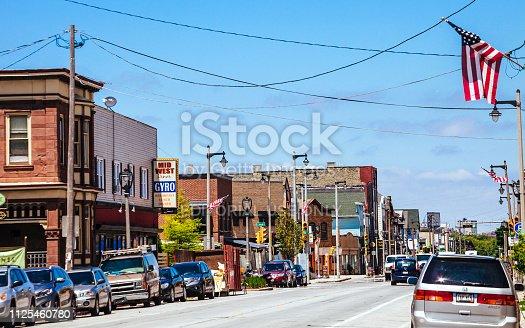 Milwaukee, Wisconsin, USA - Kinnickinnic Avenue in Bay View district