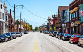 Milwaukee - Kinnickinnic Avenue, Bay View district. Wisconsin, USA