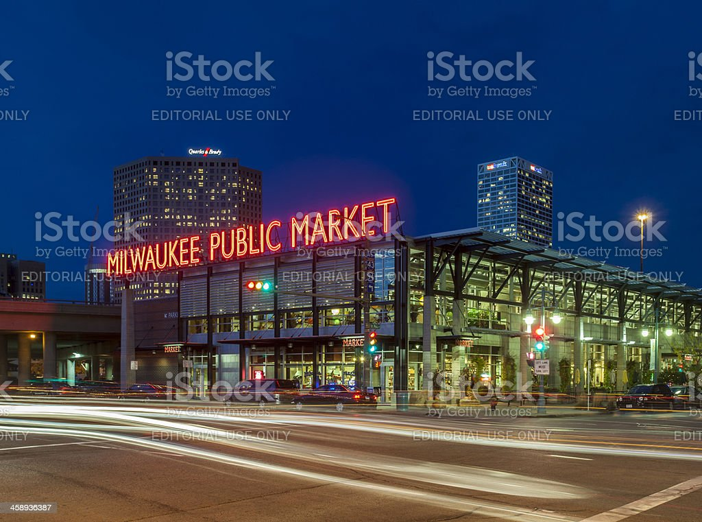 Milwaukee Public Market stock photo