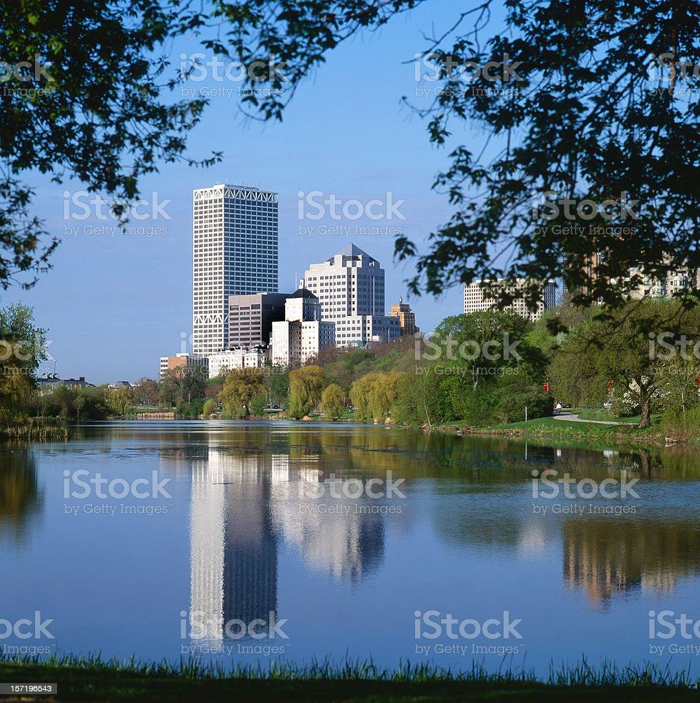 Milwaukee Reflections royalty-free stock photo