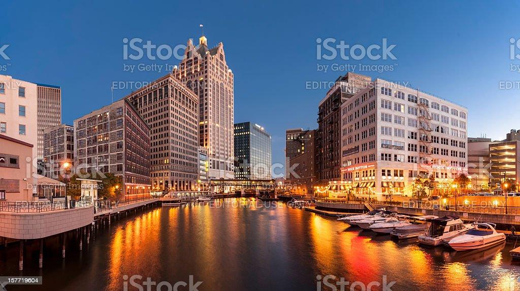 Milwaukee River  City Stock Photo