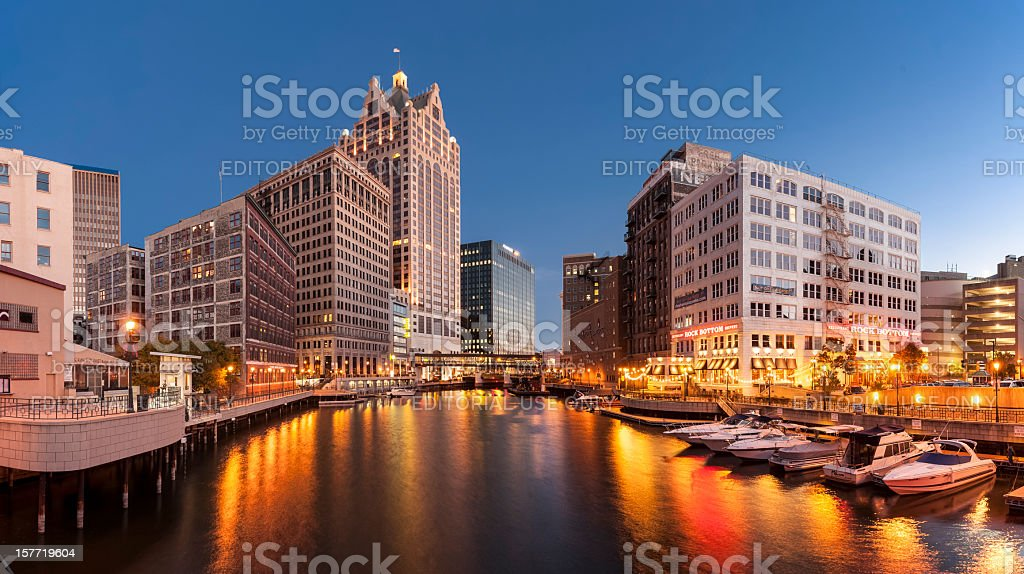 Milwaukee River stock photo