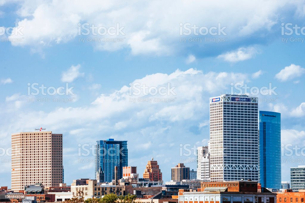 Milwaukee skyline stock photo