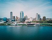 Skyline of the city of Milwaukee, WI.