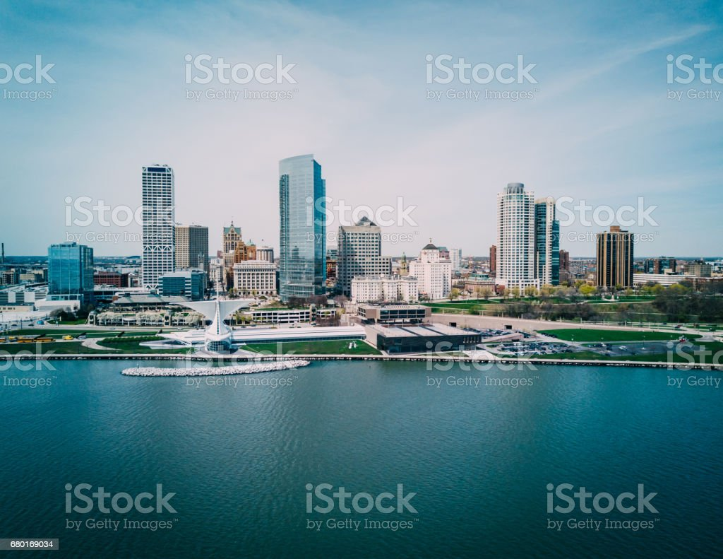 Milwaukee Skyline stock photo