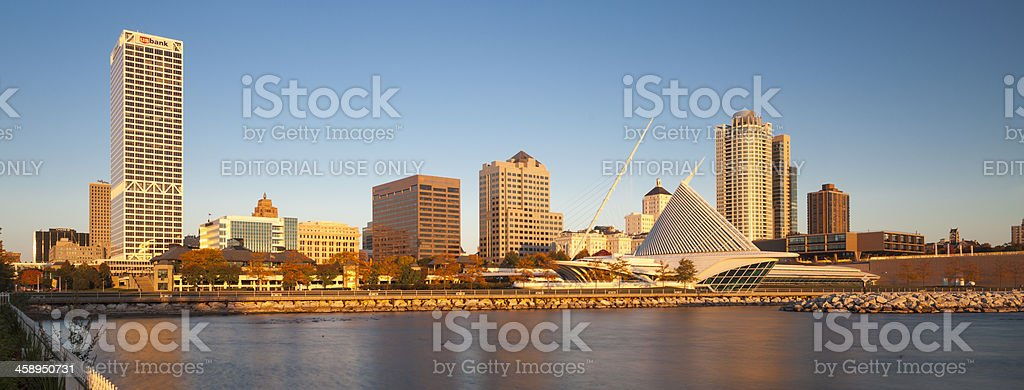 Milwaukee waterfront stock photo