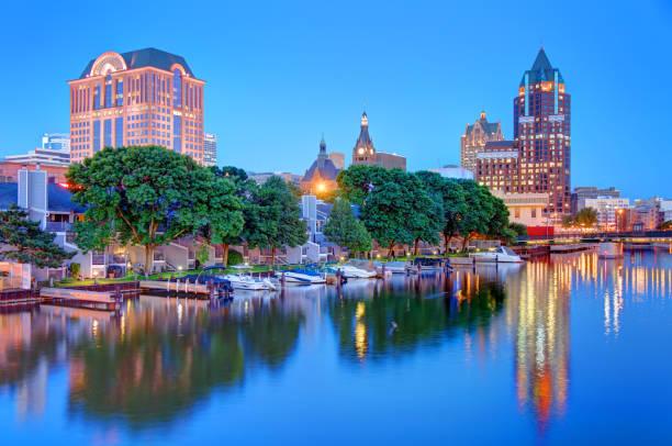 Milwaukee, Wisconsin Waterfront stock photo