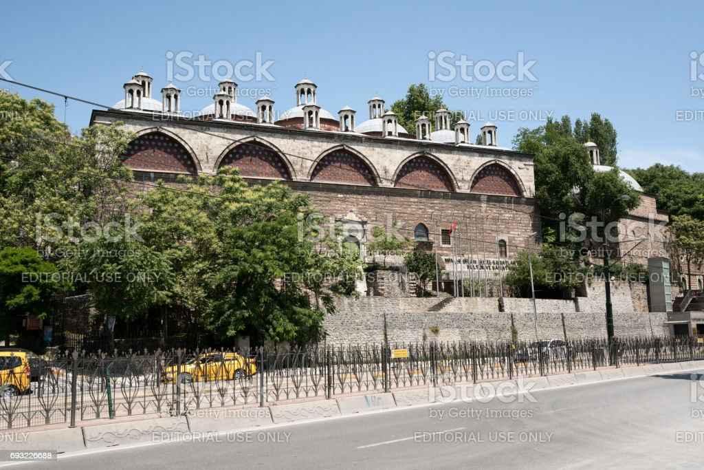 Mimar Sinan University Tophane-i Amire Building in Tophane District stock photo
