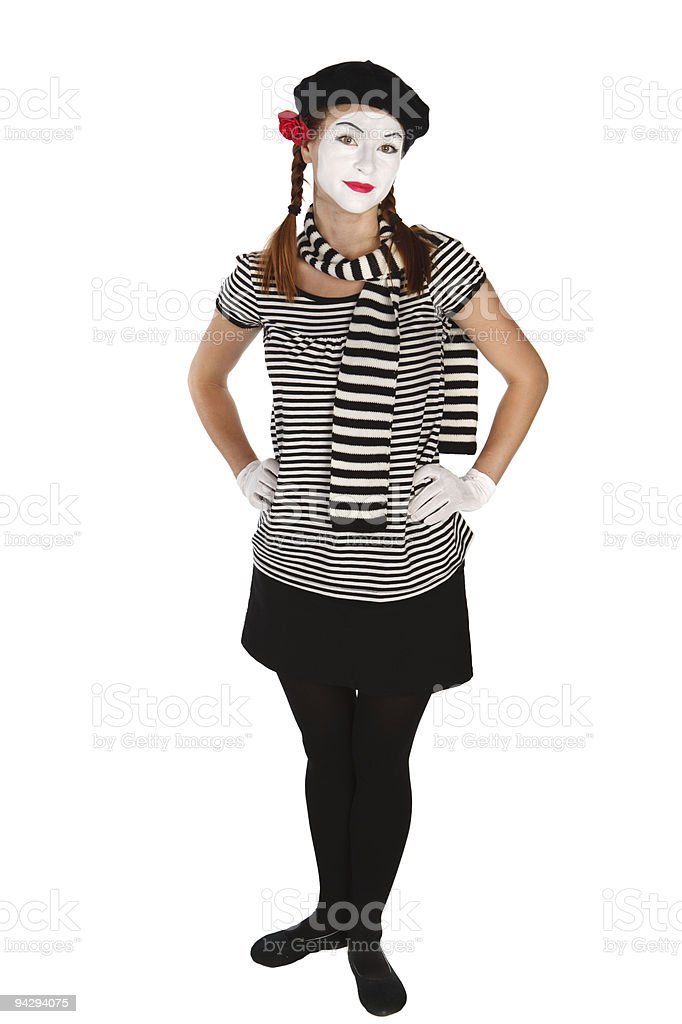 Mime comedian royalty-free stock photo