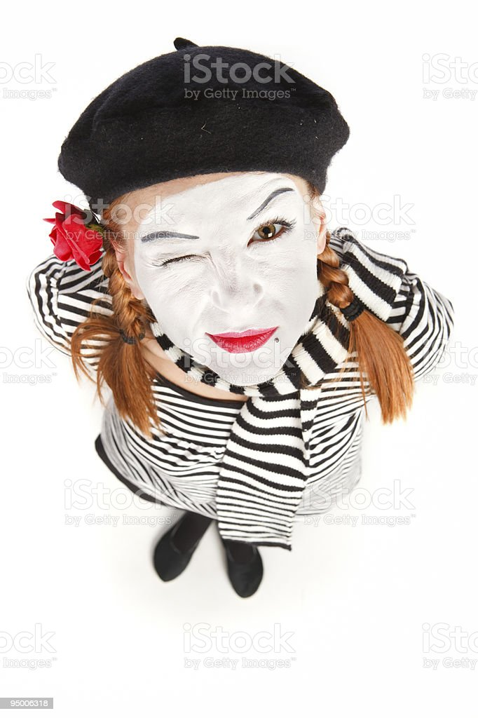 Mime comedian portrait royalty-free stock photo