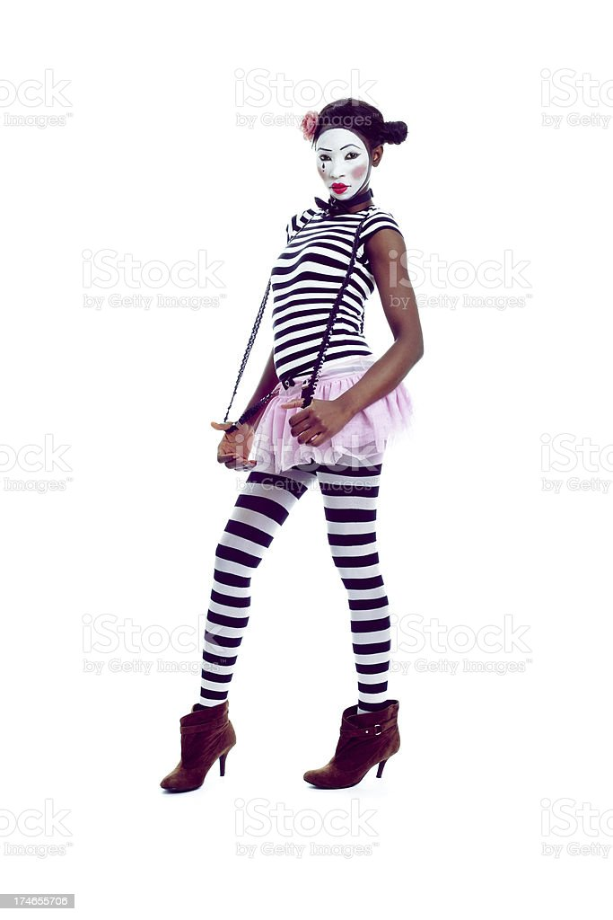 Mime With Attitude royalty-free stock photo