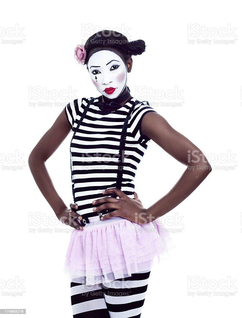 Mime With Attitude royalty-free stock photo