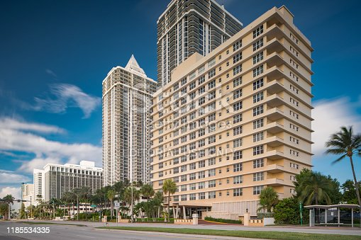 Miami Beach, FL, USA - October 29, 2019: Mimosa Condominium apartments Miami Beach