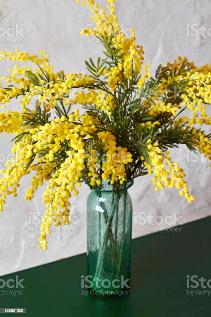 spring flowers mimosa bouquet