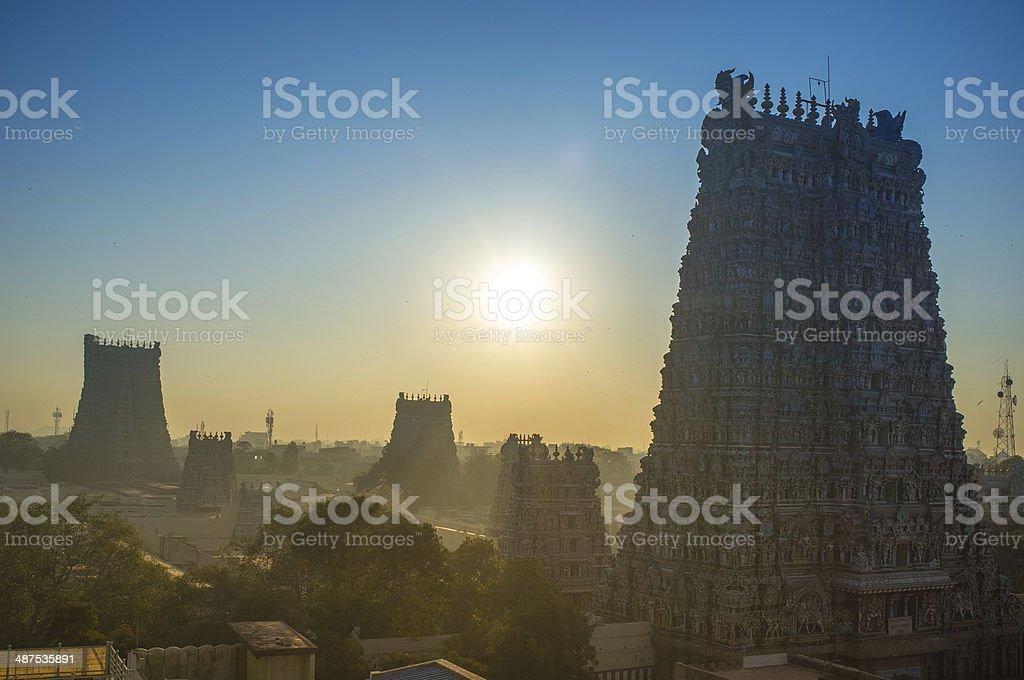 Minakshi Hindu Tempel Madurai Indien stock photo