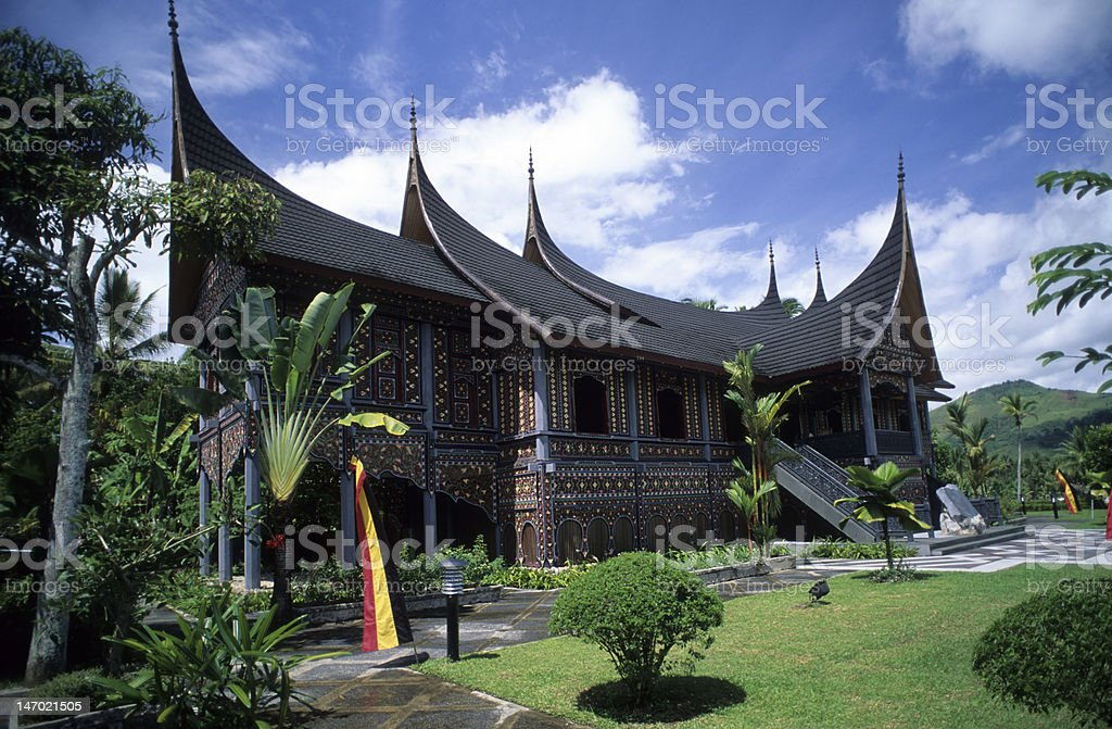 Minangkabau, Pagaruyung Royal Palace, West Sumatra, Indonesia​​​ foto