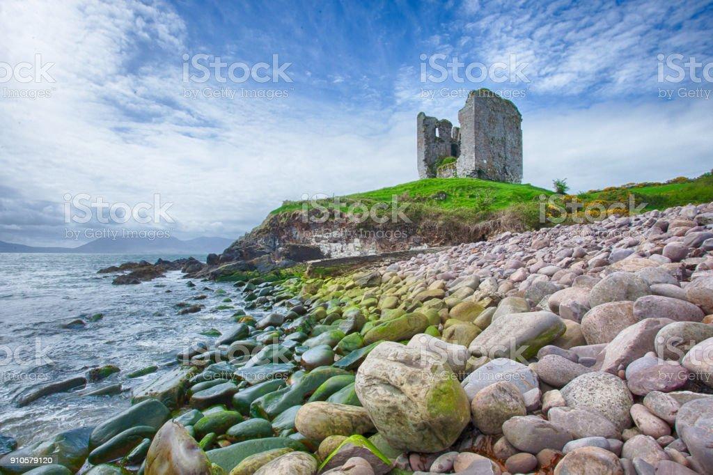 Minard Castle stock photo