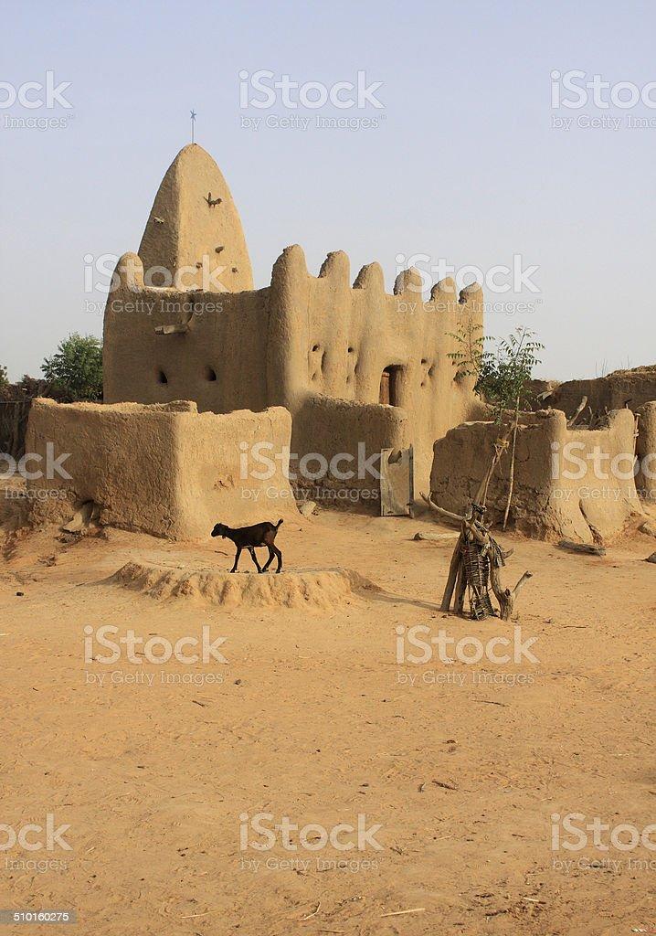 Minaret of a traditional mosk stock photo