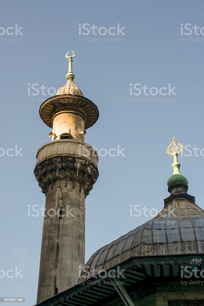Minaret of Ottoman Mosques in view foto de stock royalty-free