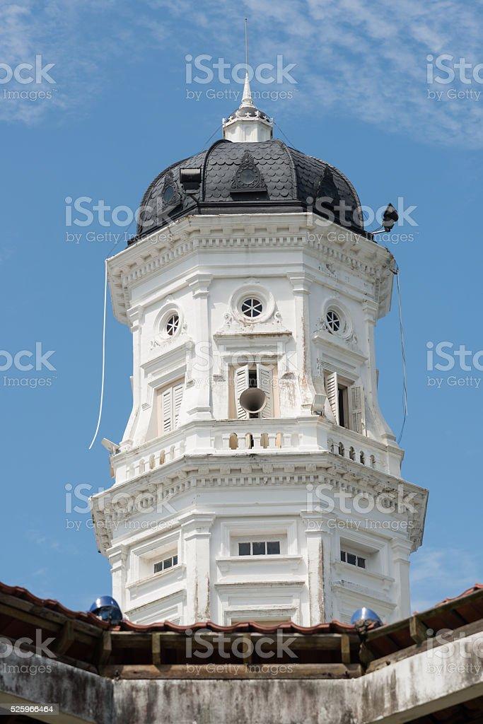 Minaret of the Sultan Abu Bakar mosque, Johor Bahru stock photo