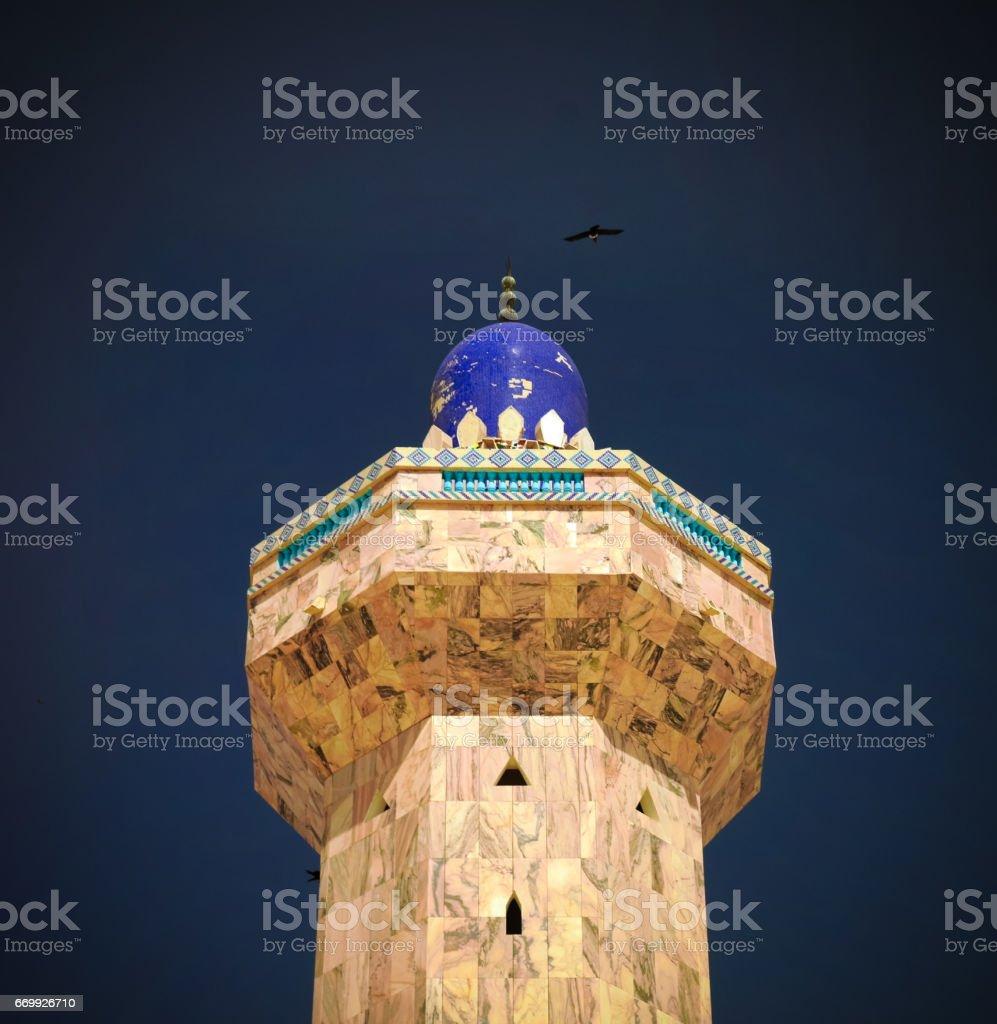 Minaret of Touba Mosque, center of Mouridism and Cheikh Amadou Bamba burial place Senegal stock photo