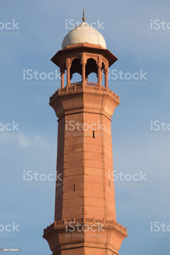 Minaret Tower of calling prayer to muslims royalty-free stock photo