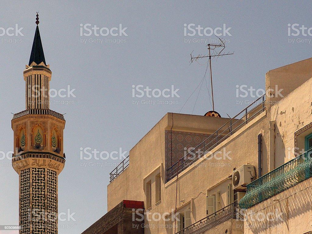 Minaret - Tunisia. royalty-free stock photo