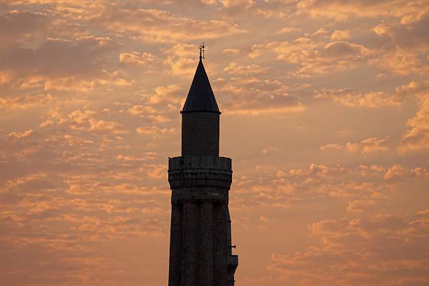 minarets cloud sunrise antalya - byakkaya stok fotoğraflar ve resimler