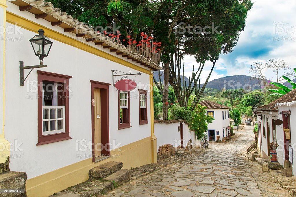 Minas Gerais State - typical building in a historical city stock photo