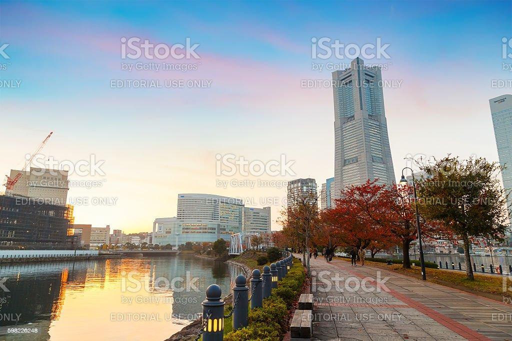 Minato Mirai Area in Yokohama, Japan foto royalty-free