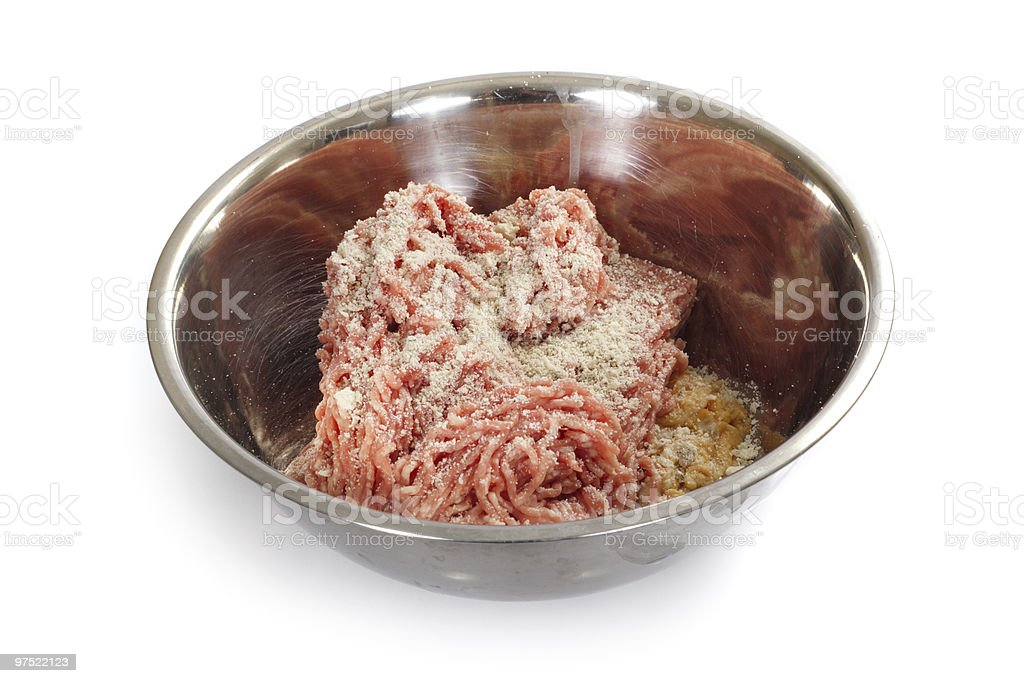 Mince Meat In Bowl royalty-free stock photo