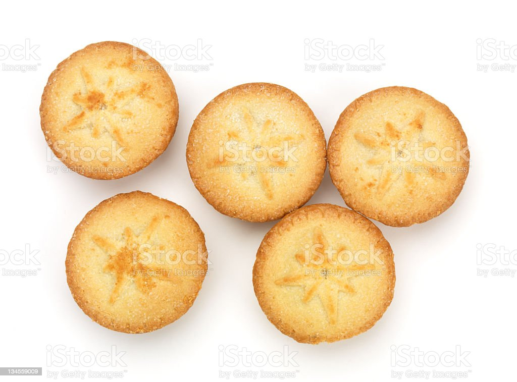 Mince pies from above stock photo