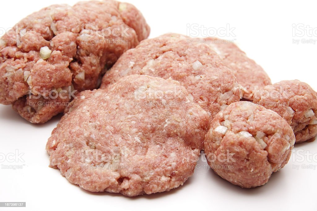 Minced meat formed stock photo